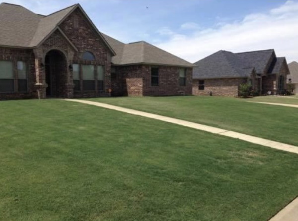 Lawnmowing front yard by HIS Way Services, Texarkana
